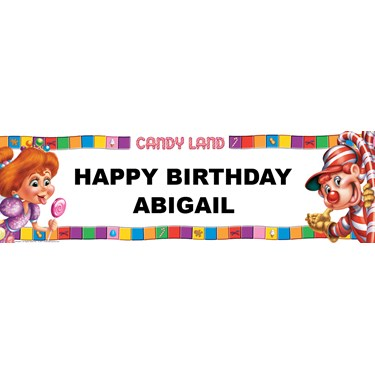 CandyLand Personalized Vinyl Banner