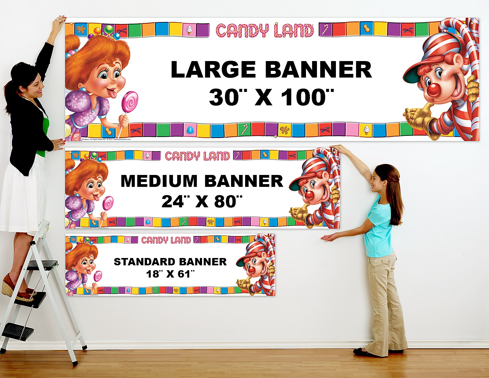 candyland personalized vinyl banner  birthdayexpress