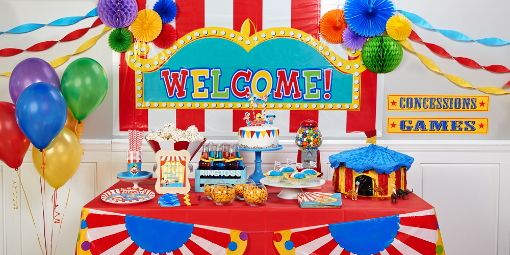 Carnival games party in a box for 8 - Carnival theme party supplies ...