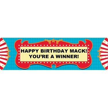 Carnival Games Personalized Vinyl Banner