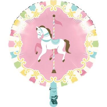 """Carousel 18"""" Metallic Balloon"""