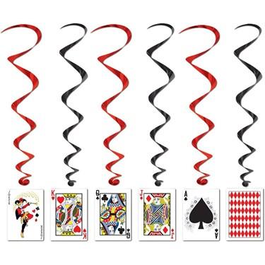 Casino Party Cards Dangling Cutouts 3