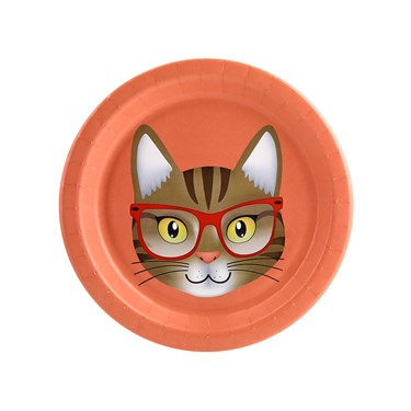 Cats Meow Brown Cat Dessert Plate (8)