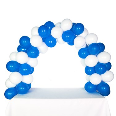 Celebration Tabletop Balloon Arch-Midnight Blue & White