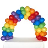 Celebration Tabletop Balloon Arch-Rainbow