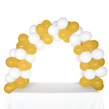 Celebration Tabletop Balloon Arch-White & Gold