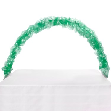Celebration Tulle & Light Arch-Kelly Green