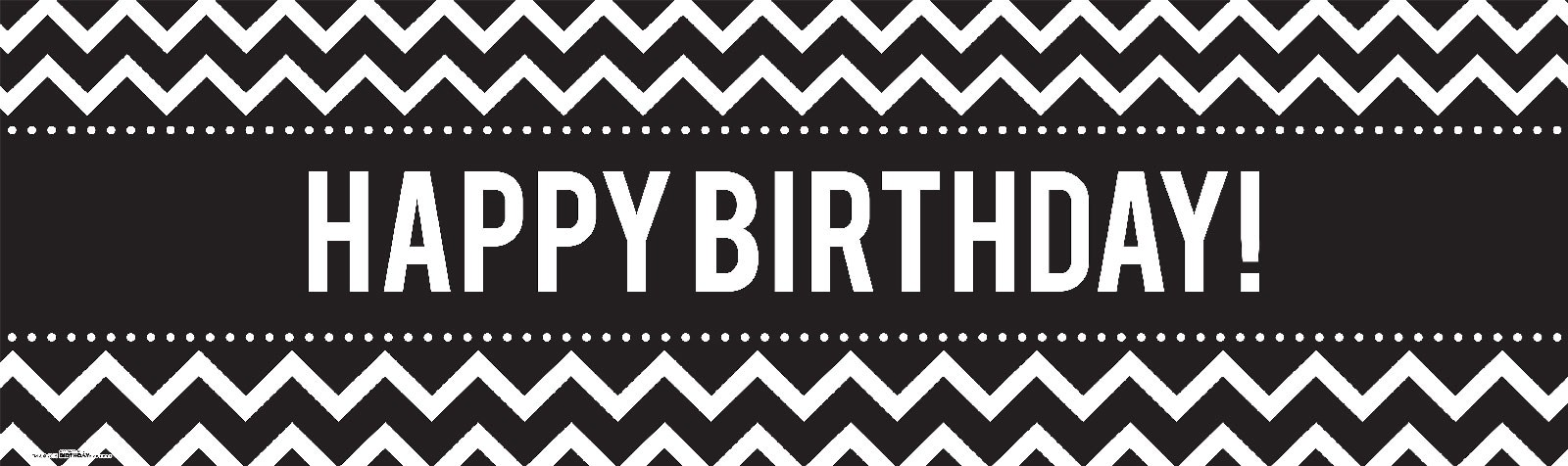 Chevron Black Birthday Banner | BirthdayExpress.com