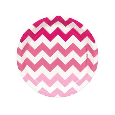 Chevron Pink Dessert Plates