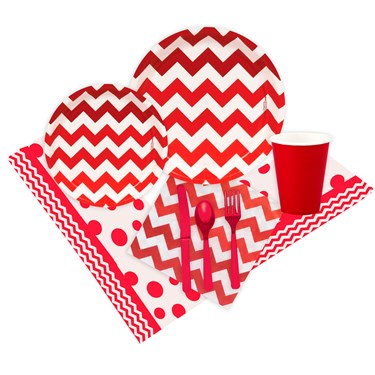 Chevron Red Party Pack