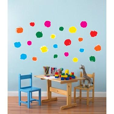 Circle Dot Confetti Small Wall Decal