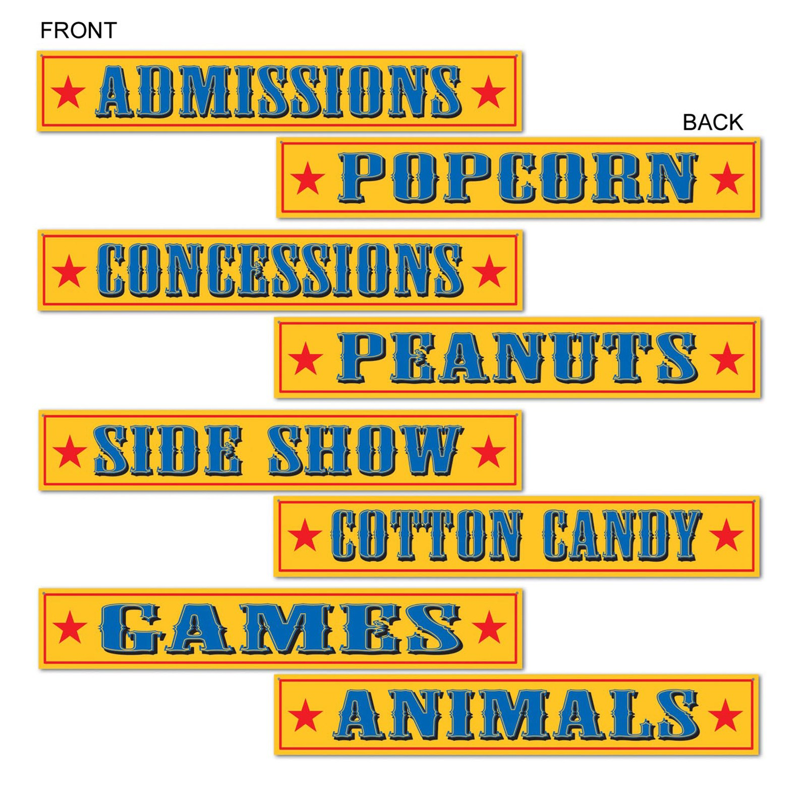 Circus Sign Cutouts | BirthdayExpress.com