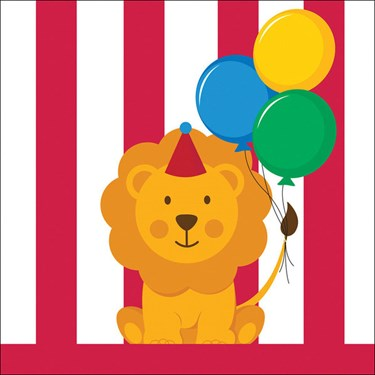 Circus Time Beverage Napkins (16)