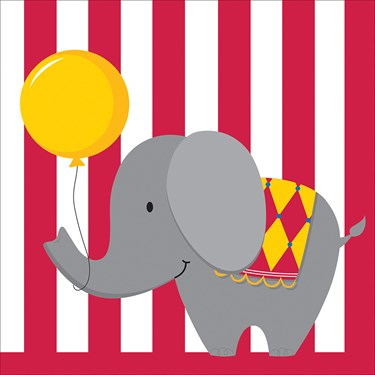 Circus Time Luncheon Napkins (16)