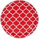 Default Image - Classic Red Quatrefoil Dinner Plates (8)