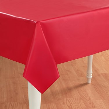 Classic Red (Red) Plastic Tablecover