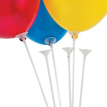 Clear Balloon Sticks with Cups (144 Count)