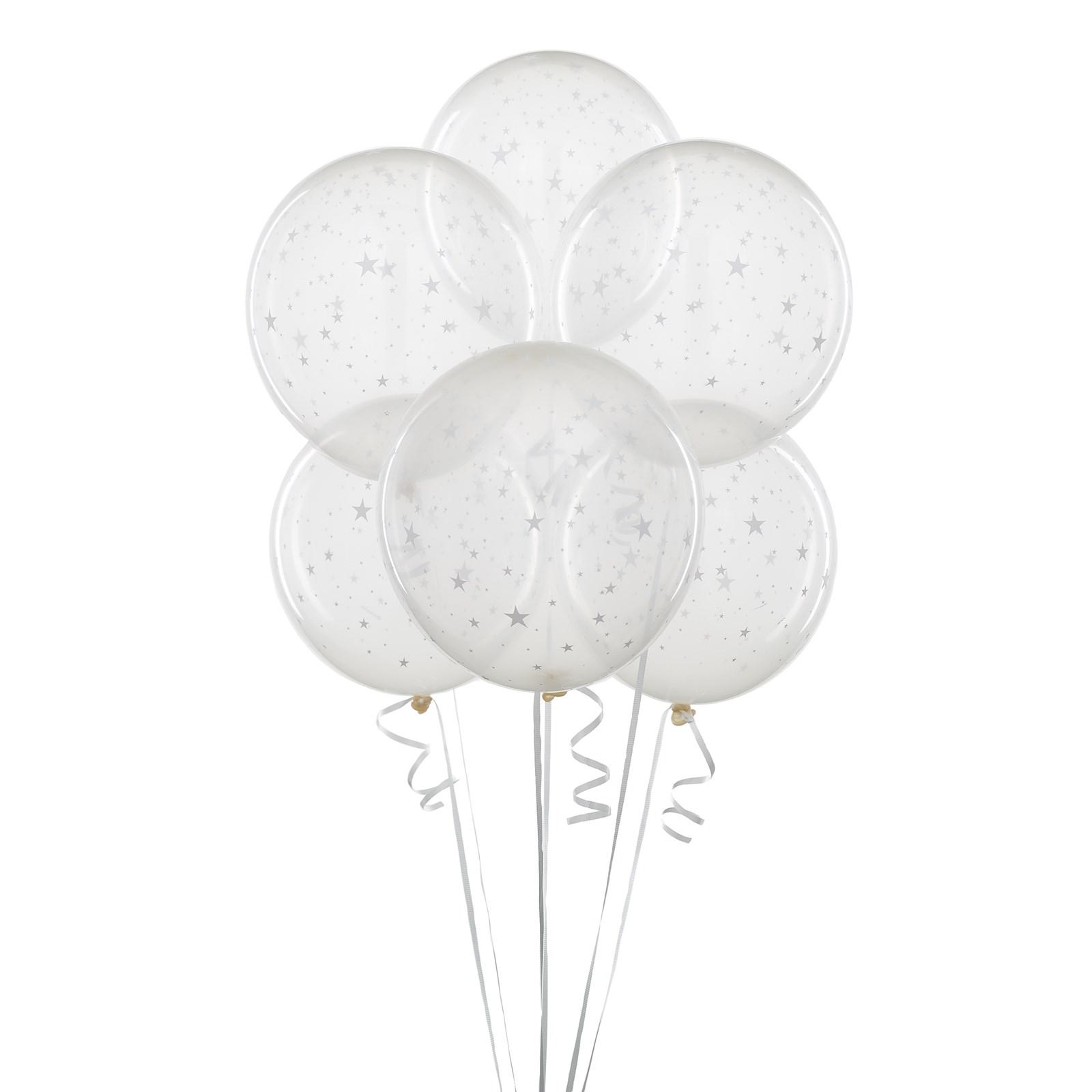 Clear Balloons With Stars BirthdayExpresscom
