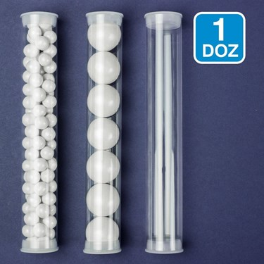 Clear Candy Tubes (12)