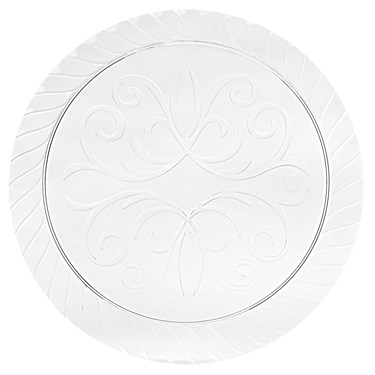 Clear Plastic Fluted Dinner Plates