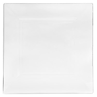 Clear Square Premium Plastic Dinner Plates
