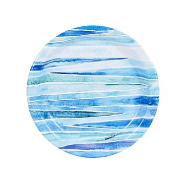 Coastal Sea Stripe Dessert Plate (8)
