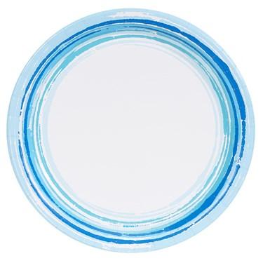 Coastal Sea Stripe Dinner Plate (8)