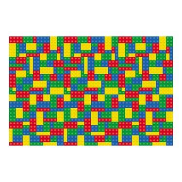 Color Brick Party Backdrop Banner