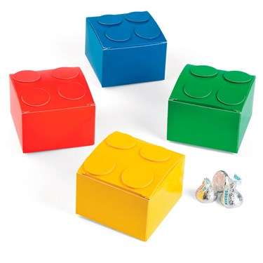 Color Brick Party Favor Boxes (12)