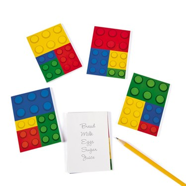 Color Brick Party Notepads (24 Pack)
