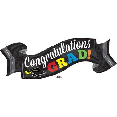 """Congrats Grad Banner 40"""" Balloon (Each)"""