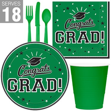 Congrats Grad Green Party Pack For 18