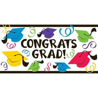 Congrats Grad Large Plastic Banner