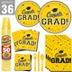 Default Image - Congrats Grad Yellow Party Pack For 36