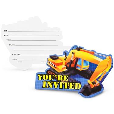 Construction Invitations (8-pack)