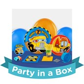Construction Pals 2nd Birthday Party in a Box For 8