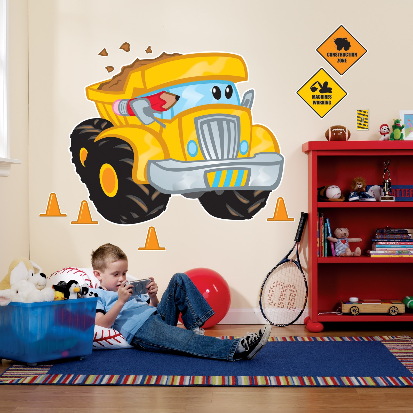 Construction pals giant wall decals for Construction site wall mural