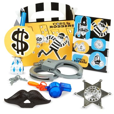 Cops and Robbers Party - Filled Party Favor Box