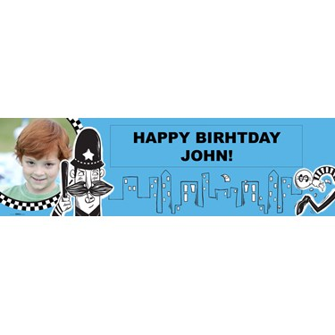 Cops and Robbers Personalized Photo Vinyl Banner