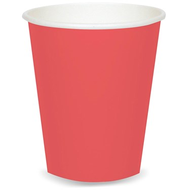 Coral 9 oz. Paper Cups