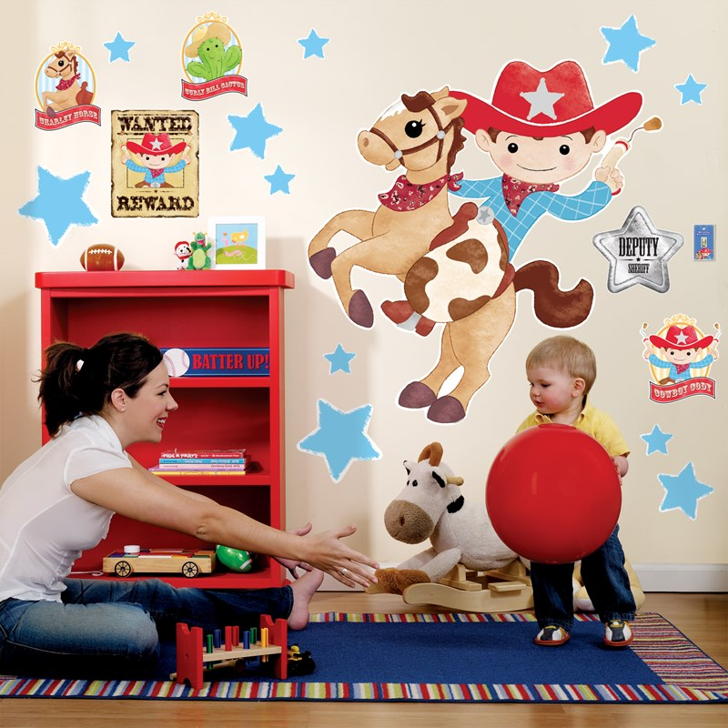 Cowboy giant wall decals for Cowboy wall mural