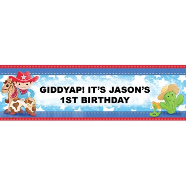 Cowboy Personalized Vinyl Banner