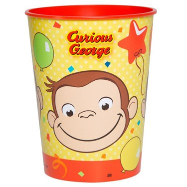 Curious George 16os Plastic Favor Cup (1)