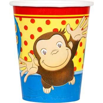 Curious George 9 oz. Paper Cups