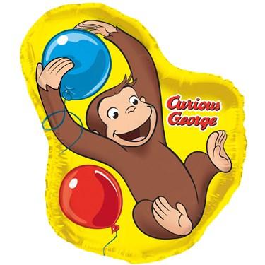 Curious George Jumbo Foil Balloon