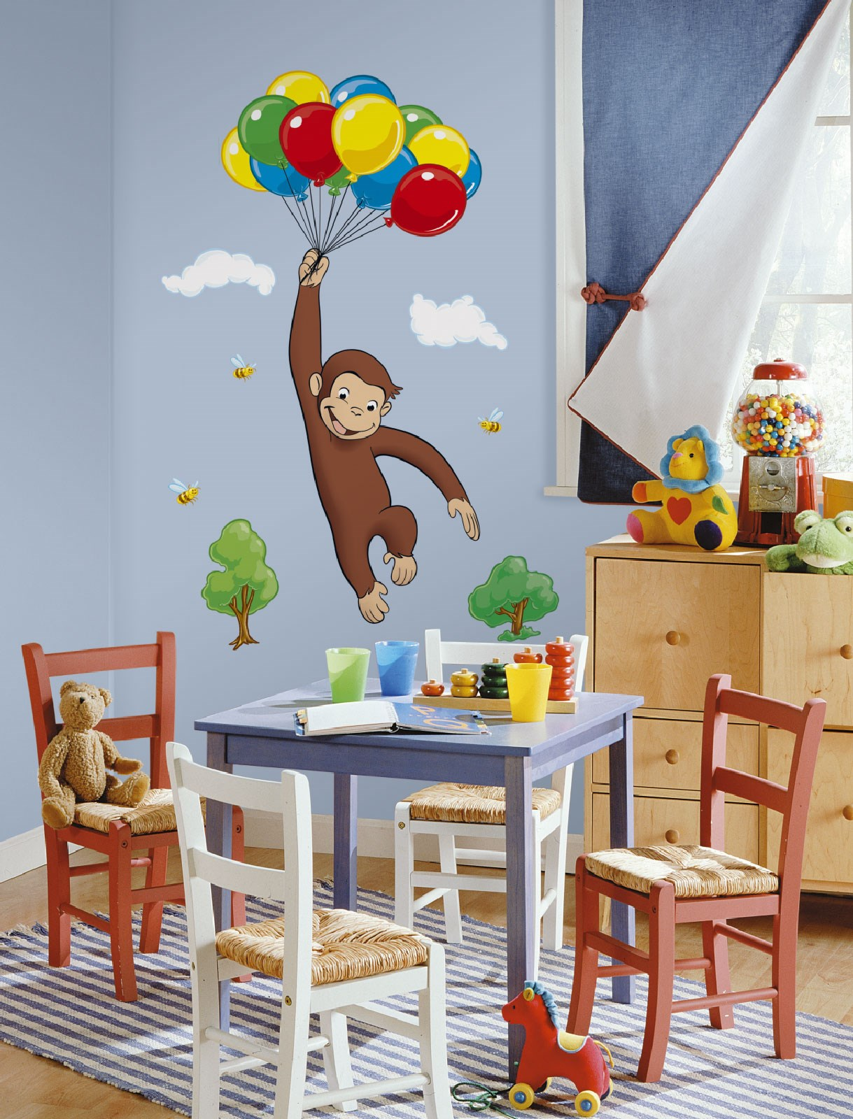Curious george giant wall decals for Curious george wall mural