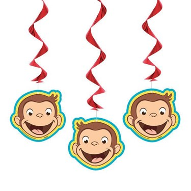 Curious George Swirl Decorations (3)