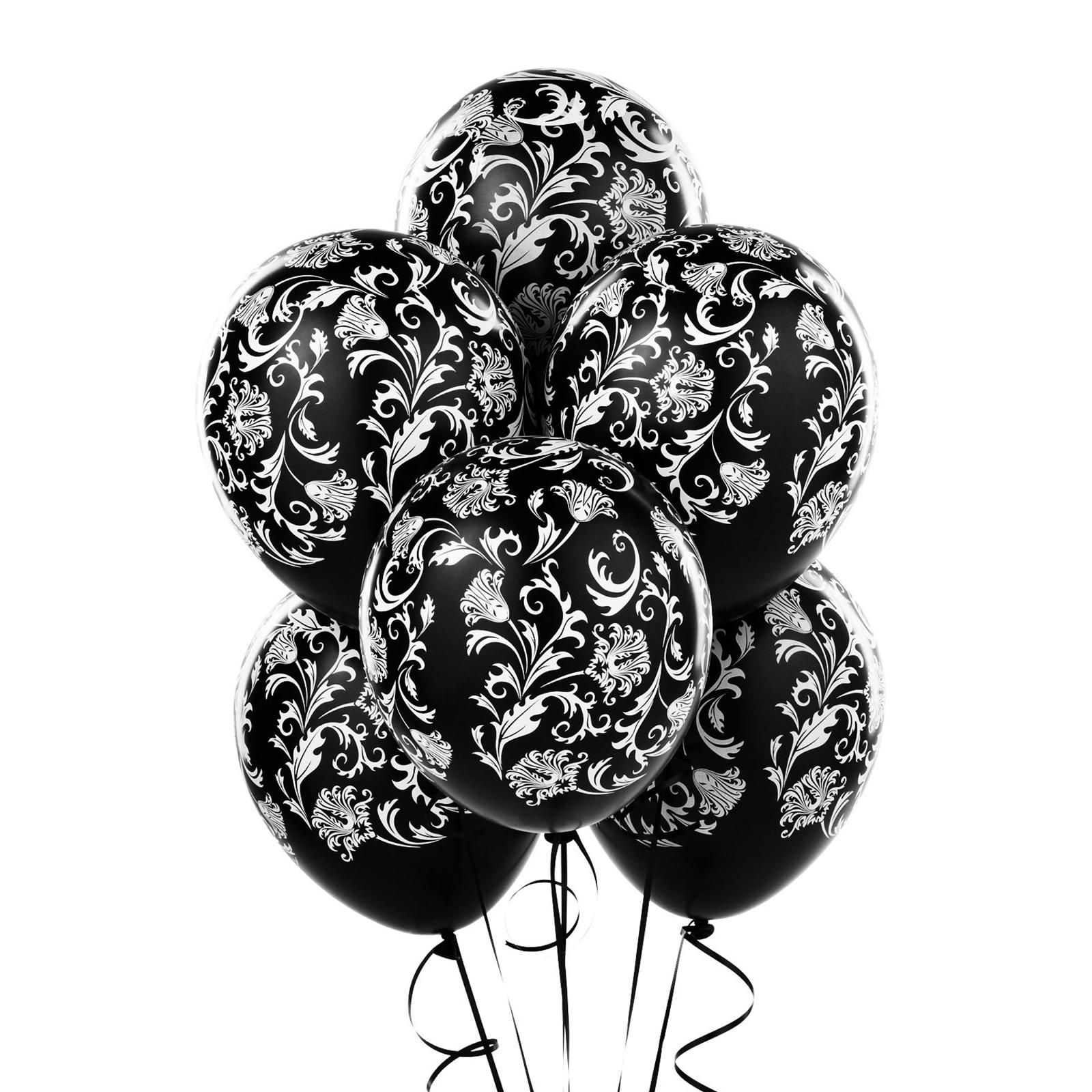 Birthday Balloon Black And White