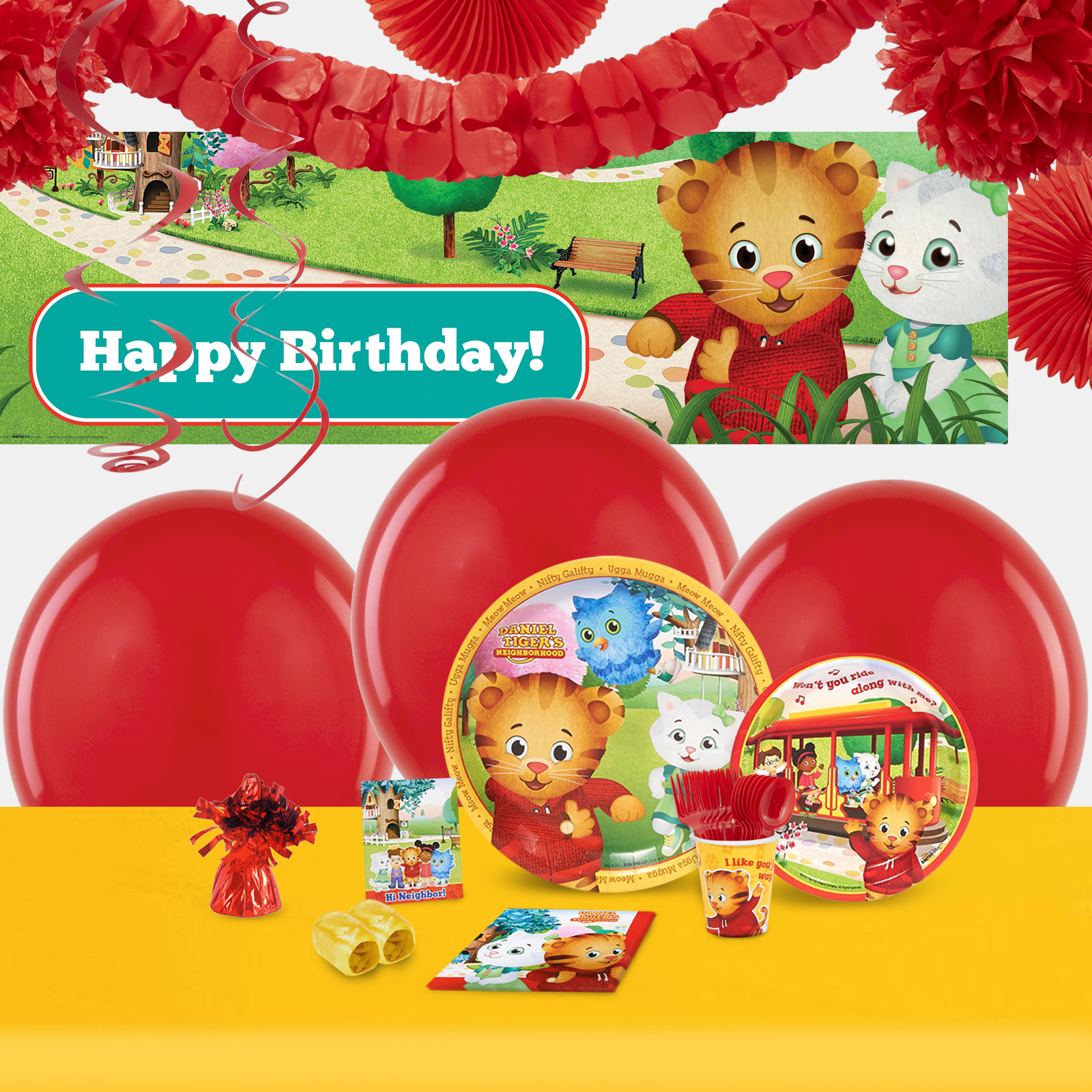 Default Image - Daniel Tigers Neighborhood Party in a Box For 16