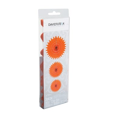 David Tutera Die Cut Orange Tissue Medallions (3)